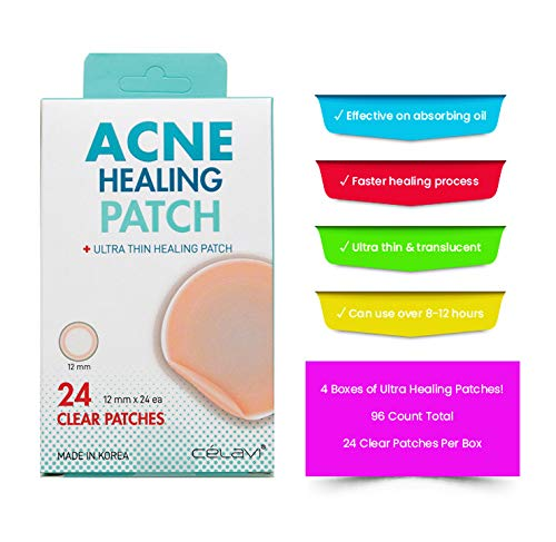 - Celavi Acne Healing Patch Ultra Thin Clear Effective 24 Patches/4 Packs (96 Patches Total)