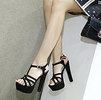 Impermeable Lgk Tabla Tacón Gruesa Sandalias Zapatos amp;fa Alto De ynwm8P0vON