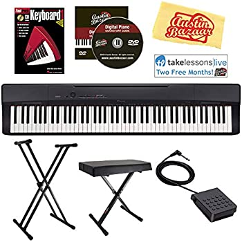 yamaha p45 88 key weighted action digital piano with sustain pedal and power supply. Black Bedroom Furniture Sets. Home Design Ideas