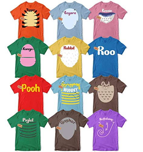 Bear & Friends Halloween Character T-Shirt Matching Team Group Family Costume Men's Women's Unisex T-shirt - Premium T-shirt - Hoodie - Sweater - Long Sleeve - Tank Top (Winnie The Pooh And Friends Costumes For Adults)
