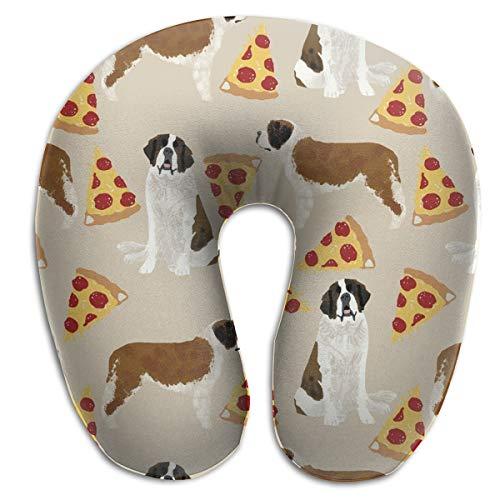 MODREACH U Shaped Memory Foam Air Pillow Neck Head Cushion Support Rest Outdoors Car Office Home Travel Pillow (Saint Bernard Dog Breed)