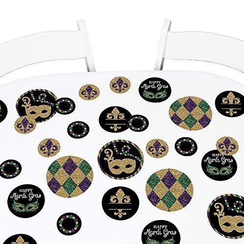Big Dot of Happiness Mardi Gras - Masquerade Party Giant Circle Confetti - Party Decorations - Large Confetti 27 - Confetti Mask