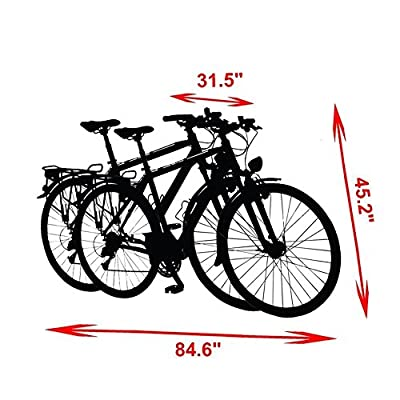 Baleaf Oxford Fabric Waterproof Bicycle Cover for 2 Bikes Lockhole Design