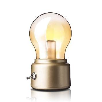 Espeedy Usb Led Vintage Ampoule De Lumiere De Nuit Batterie Lumiere