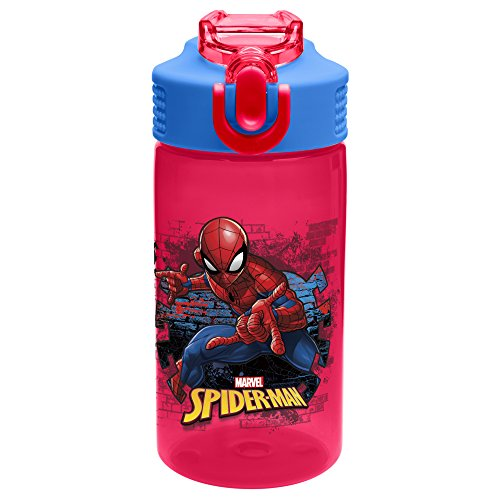 Zak Designs SDNU-T120 Marvel Comics Water Bottles, 16 oz, Spider-Man