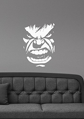 The Incredible Hulk Face Vinyl Wall Decal Marvel Comics Super Hero Sticker Art Decorations For Home Dorm Room Office Superhero Decor Ideas Hlk5
