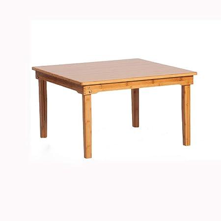 Mesa auxiliar Madera sólida plegable Mesa Cuadrada de bambú Tabla ...