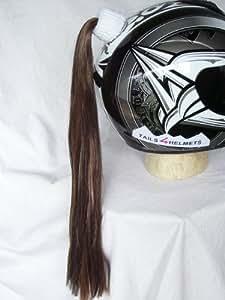 Brown Ladies Helmet Ponytail Works On Any Motorcycle Skate or Snow Helmet