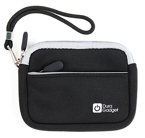 DURAGADGET Premium Quality Black Neoprene Case with Wrist Strap & Additional Storage - Suitable for The Polar RCX3| RCX5 Heart Rate Monitor and Sports Watch (Rcx5 Strap Heart Rate Polar)