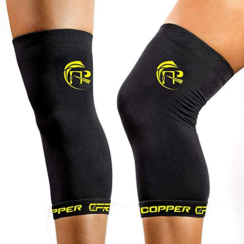CFR Copper Knee Sleeves Knee Support Copper Infused ,Suitable for Athletics, Tennis, Golf, Basketball, Sports, Weightlifting, Joint Pain Relief, Injury Recovery,2XL