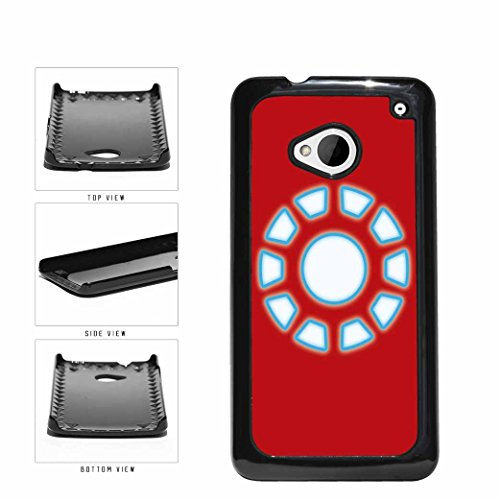 BleuReign(TM) Red And Blue Superhero Reactor Plastic Phone Case Back Cover HTC One M7