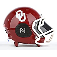 NCAA Football Oklahoma Sooners Wireless Bluetooth Speaker. The Officially Licensed Helmet Portable Speaker by NCAA College Football - Small