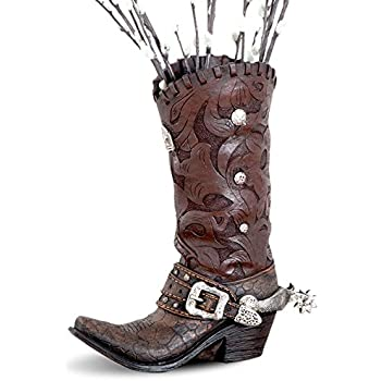 Amazon Western Cowboy Boot Vase Planter For Western Decor