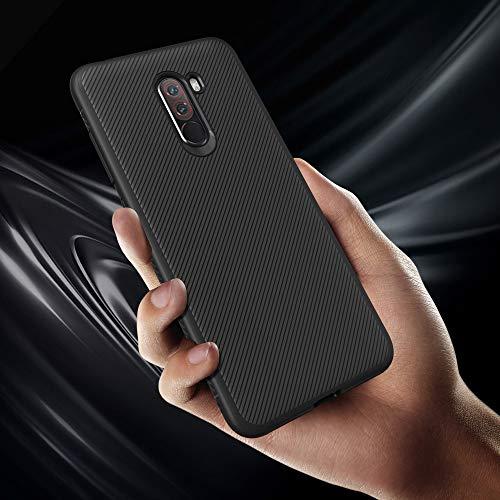 RareBella Slim Ultra Thin Bumper Scratch Resistant Protective Soft TPU  Cover with Shock Absorption for Xiaomi Pocophone F1 (Graphite Black)