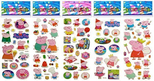 3 Sheets Puffy Dimensional Scrapbooking Party Stickers-FREE USA SHIPPING - PEPPA PIG]()