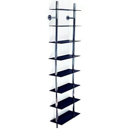 Beau MAXWELL   Wall Mounted 8 Tier Glass 240 CD / 160 DVD / Blu Ray