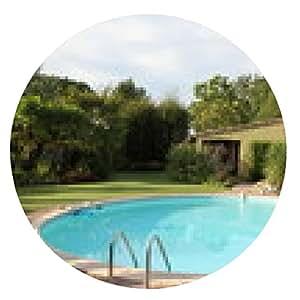 alfombrilla de ratón exótico jardín y piscina circular - ronda - 20cm