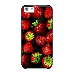 Kellie-Diy Hard Plastic Iphone 5c case cover Back Cover,hot Strawberries case cover At Perfect Sl6XnMGfbor Diy
