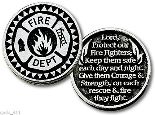 LOT of 12 Firemans Prayer Pocket Pewter 2 Sided Gift Token