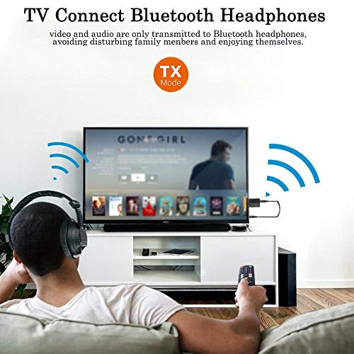 Bluetooth 5.0 Transmitter Receiver, 3 in 1 Bluetooth Adapter for TV PC Headphones
