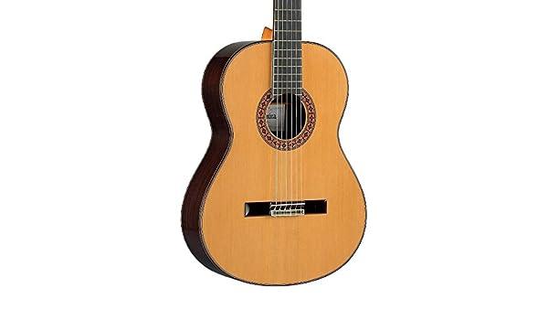 Alhambra 8 P clásica guitarra acústica brillante Natural: Amazon ...