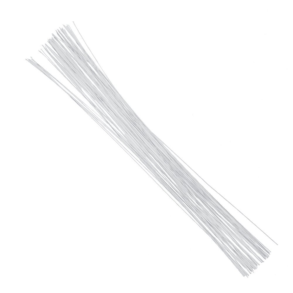 Amazon.com: Decora 24 Gauge White Floral Wire 16 inch, 50/Package
