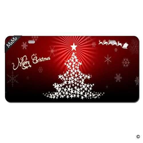 MsMr Funny License Plate Cover with 2 Holes Christmas Noel Metal License Plate Cover Decorative Car License Plate Auto Tag Sign 6x12 Inch