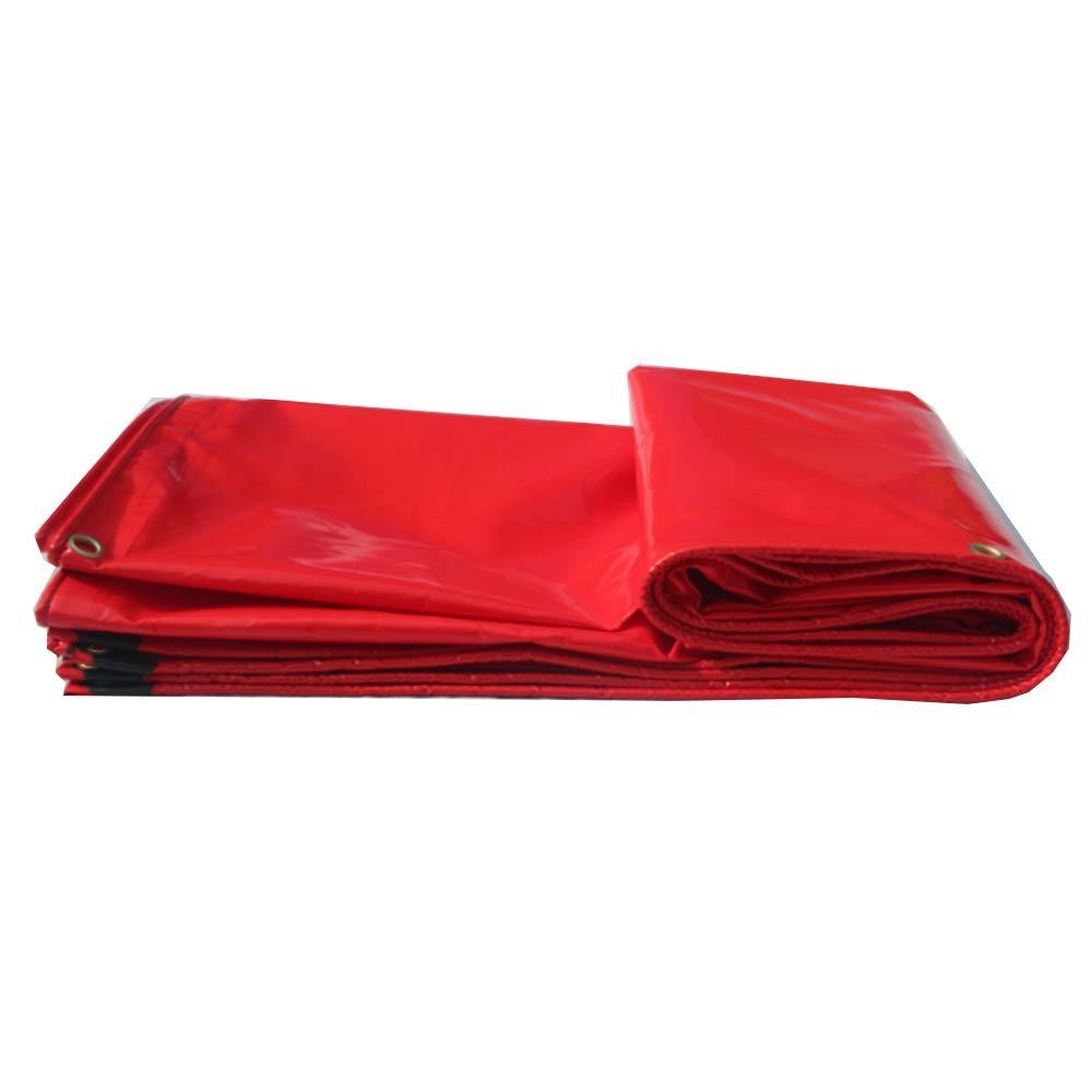 Tarpaulin NAN Starke rote Wasserdichte Plane-Bodenplane-Abdeckungen für Das Kampieren, Das Fischen, die Gartenarbeit u. Die Haustiere - kommt mit antimikrobiellem Stift TCH  (größe   2  3m)