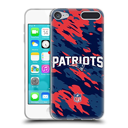 Official NFL Camou New England Patriots Logo Soft Gel Case for Apple iPod Touch 6G 6th Gen 6g Ipod
