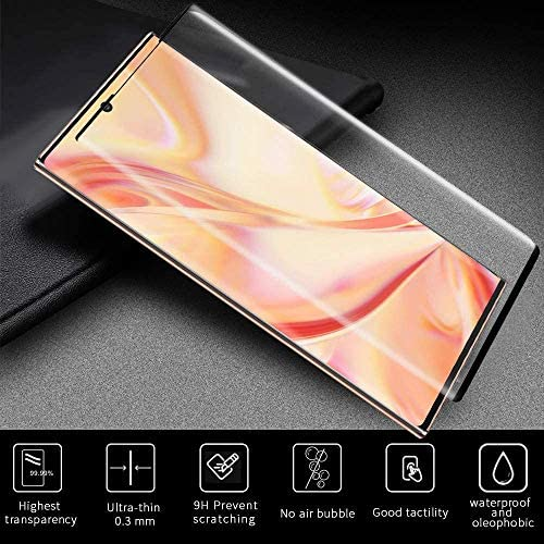 [2+2 Pack] Galaxy Note 20 Ultra Screen Protector Include 2 Pack Tempered Glass Screen Protector + 2 Pack Tempered Glass Camera Lens Protector,9H Hardness,Easy Install for Galaxy Note 20 Ultra