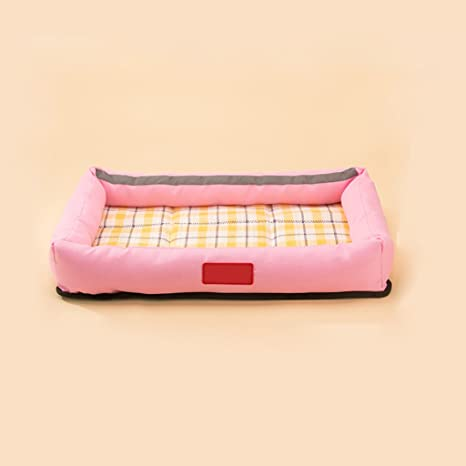 TangMengYun Cama para perros Cama para gatos Cómoda cama para mascotas Cama Oxford Tejido Verano Rosa