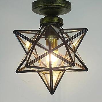 TLX-LAMP Estrellas Lámparas Transparentes Lámparas De Techo ...