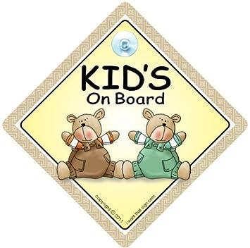 Kinder An Bord Autoschild Saugnapf Auto Schild Bord Braun Grün Bären Baby A Aufkleber Stoßstange Aufkleber Baby On Board Zeichen Zeichen Baby