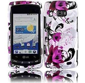 LG Ally VS740 Apex US740 Design Hard Cover Case - Purple Lily Flower