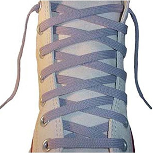 "Flat Shoelaces 3/8"" Wide Tubular Braided - 45 Inch Grey"