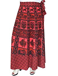 Maple Clothing Long Skirt Womens Wrap Around Block Print Cotton Indian Clothes