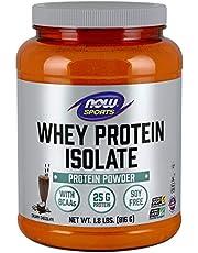 NOW Sports Nutrition, Whey Protein Isolate Powder, Creamy Chocolate