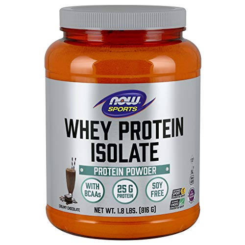 NOW® Sports Whey Protein Isolate, Dutch Chocolate, 1.8 lbs. -