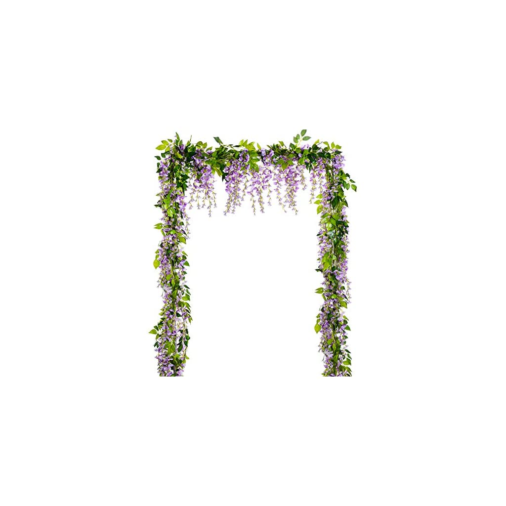Lvydec-Wisteria-Artificial-Flowers-Garland-4Pcs-Total-288ft-Artificial-Wisteria-Vine-Silk-Hanging-Flower-for-Home-Garden-Outdoor-Ceremony-Wedding-Arch-Floral-Decor