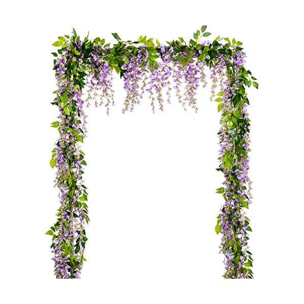 Lvydec-Wisteria-Artificial-Flowers-Garland-4Pcs-Total-288ft-Artificial-Wisteria-Vine-Silk-Hanging-Flower-for-Home-Garden-Outdoor-Ceremony-Wedding-Arch-Floral-Decor