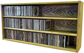 The Wood Shed Solid Oak CD Rack Unfinished