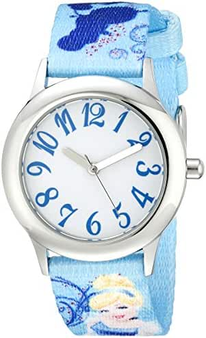 Disney Kids' W000416 Tween Cinderella Stainless Steel Printed Strap Watch