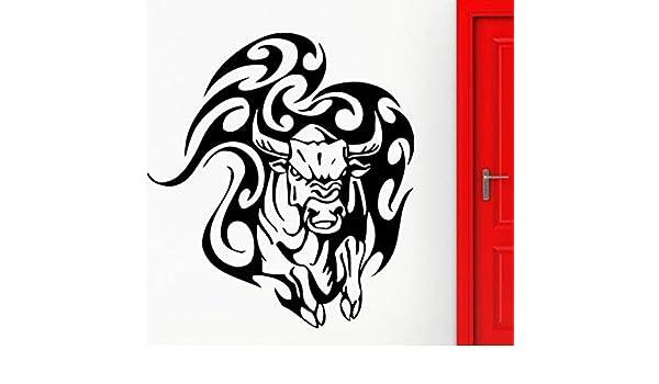 Toro Pegatinas de Pared Animal Taurina Tatuaje Tribal Calcomanía ...