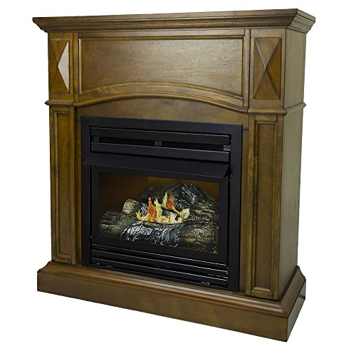 Pleasant Hearth 36 Compact Heritage 20,000 Natural Gas Vent Free Fireplace System 20K -