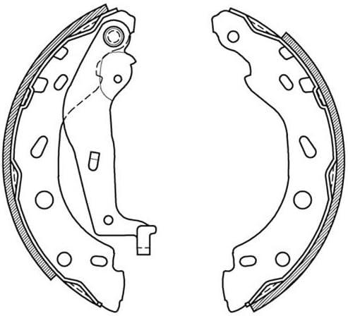 Open Parts BSA2000.00 Juego de zapatas de frenos Trasero 4 Piezas