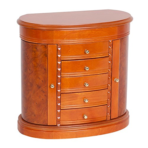 - Mele & Co. Trinity Jewelry Box Walnut