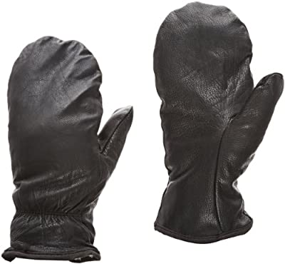 Superior SNOW Cowgrain Leather Extreme Cold Weather Mitt with Built-in Fleece Acrylic BOA Liner, Work, Black (Pack of 1 Pair)