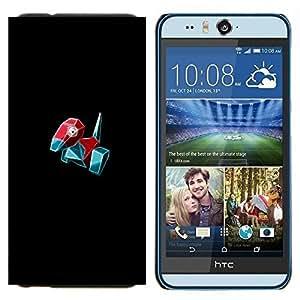 YiPhone /// Prima de resorte delgada de la cubierta del caso de Shell Armor - Meter Monster Red Bird - HTC Desire Eye M910x