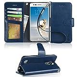 LG Aristo Case, LG Phoenix 3 Case, LG K8 2017 Case, LG Fortune Case, LG Risio 2 Case, LG Rebel 2 LTE Case, Arae LG Aristo wallet Case with Kickstand and Flip cover - Blue