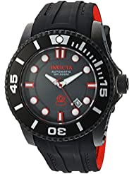 Invicta Mens Pro Diver Automatic Stainless Steel and Silicone Diving Watch, Color:Black (Model: 20205)
